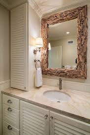 Beachy Bathroom Mirrors by Driftwood Mirror Bathroom Beach Style With Framed Mirror Frosted
