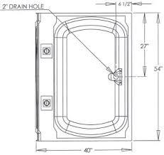 r g mobile home supply 40 x 54 no step garden tubs