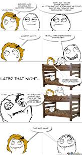 Cartoon Bunk Bed by In A Bunk Bed By Goldenparrot Meme Center
