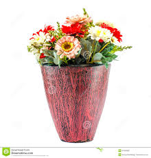 plastic flowers colorfull plastic flowers in potery jar stock photo image 45659084