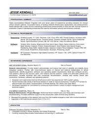 Network Admin Resume Sample by Network Administrator Resumes Free Resume Templates