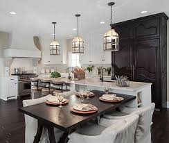 kitchen island with attached dining table 20 beautiful transitional style dining room ideas