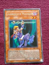 yu gi oh trading card apprentice magician type monster type