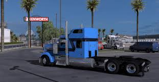 kw w900l for sale kenworth w900 blue black stripes mod for ats euro truck simulator