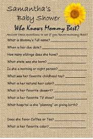 who knows best baby shower 14 personalized who knows best baby shower dr