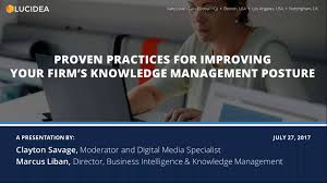 Business Intelligence Specialist Proven Practices For Improving Your Firm U0027s Knowledge Management