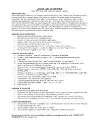 Sample Resume For Experienced Net Developer 100 Sample Resume For Experienced Net Developer Basic