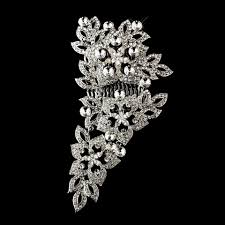 antique hair combs fabulous antique rhinestone floral wedding bridal hair comb on tradesy