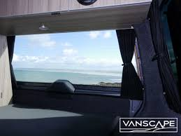 fitted vw t5 t6 transporter blackout curtain rear barn door