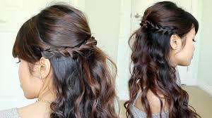 simple prom hairstyles half up half down archives women medium