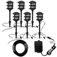 Landscape Lights Lowes Shop Portfolio Bluetooth Audio 6 Light Black Low Voltage 8 5 Watt