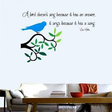 bird sings wall decal quotes