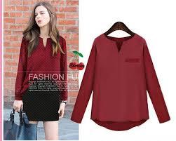 blouse wanita jual blus maroon cr blouse wanita twistcone terjual