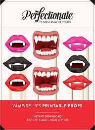 halloween photo booth props printable pdf printable vire fangs props 8 vire props printable
