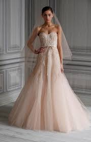 a stunning collection of lhuillier blush wedding dresses