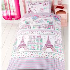 paris themed girls bedding girls single duvet cover sets bedding unicorn flower horse heart