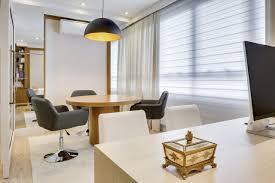 Favorito Escritório com persiana e cortina Branca de Bender Arquitetura  #CV17