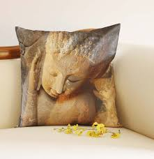 wholesale 18 x 18 inch buddha cushion cover in nirvana mudra