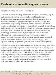 Engineering Resume Examples by Top 8 Audio Engineer Resume Samples