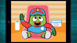 yo gabba gabba babies nurture game app with brobee muno