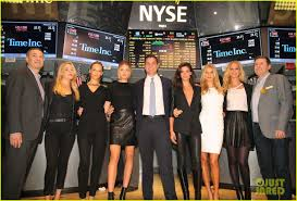 sports illustrated swimsuit models ring the nyse bell photo