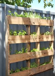 the hanging pallet garden living the savory life