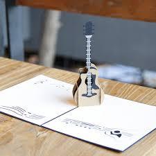 musical cards online shop fashion design 3d pop up guitar greeting card