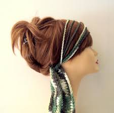 boho hair wraps boho headband cotton chain headband crochet hair wrap fitness