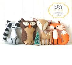 stuffed thanksgiving belly woodland stuffed animal patterns felt fox owl deer raccoon