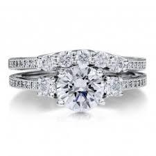 wedding ring set wedding ring sets sterling silver cz wedding rings