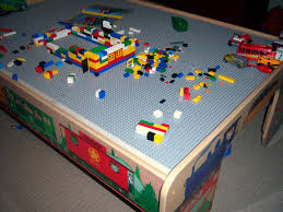 inspired mom andy u0027s train table is now a lego table