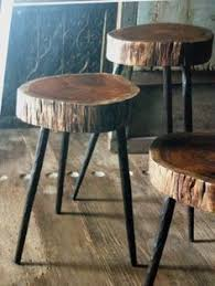 wood slice end table diy wood slice table rustic table furniture projects and diy wood