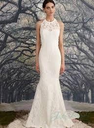 halter neck wedding dresses illusion lace halter neck backless sheath wedding dress
