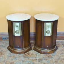 empire 9000 royal grenadier mid century modern speakers marble top