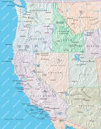 Map Of Usa Hd by Usa Western Map Illustrator Mountain High Maps Plus
