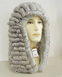 long curly hair style for lawyer amazon com new style lawyer wig judge wig long curly gray silver