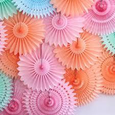 paper fans diy 10pcs lot wedding party decorations 10cm hollow out paper folding