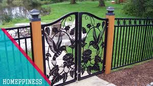 gate and fence metal garden fencing wrought iron gate designs
