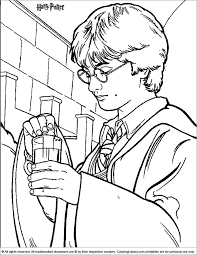 Harry Potter Coloring Page Color Pages Pinterest Harry The Color Page