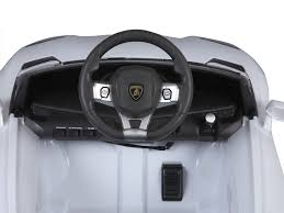 lamborghini aventador lp700 ride on car rastar lamborghini aventador lp700 4 6v white battery powered