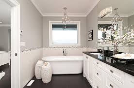 beautiful bathroom bathroom white cabinets dark floor add some natural freshness to the