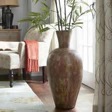 Tall Home Decor Large Glass Floor Vase 25 In Brown Bamboo Tall Floor Vase Floral