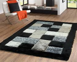 Black Grey And White Area Rugs by Black And White Shag Rug U2013 Robobrien Me