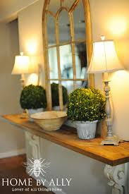 diy entryway table using corbels architectural salvage home by ally