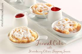 mini funnel cakes with strawberry citrus sauce overtime cook