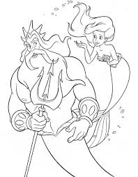 walt disney coloring pages king triton princess ariel walt disney