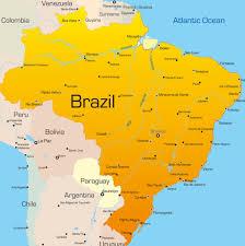 city map of brazil de janeiro map city map of brazil within on world