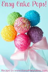 cake pops baby shower recept easy cake pop recip on karas party