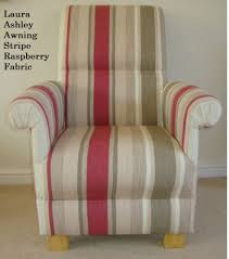 Laura Ashley Armchair Laura Ashley Awning Stripe Dove Grey Fabric Chair U0026 Footstool