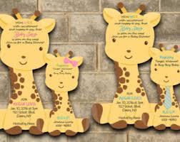 giraffe baby shower decorations baby shower invitations safari invitations por newyorkinvitations